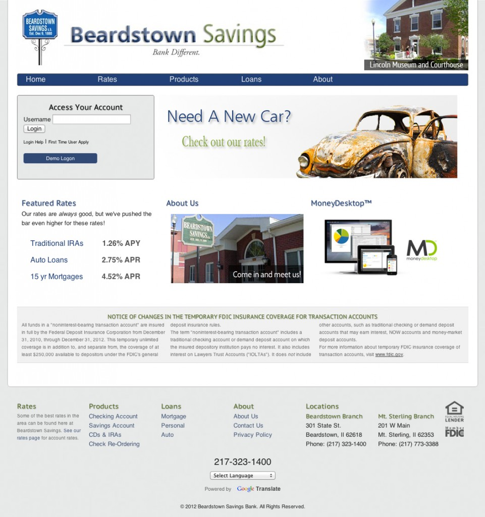 Beardstown Savings Web and Graphic Design